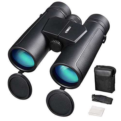 ENKEEO Prismáticos 10x42mm Binoculares Impermeables FMC BAK-4 Roof Compatible con el Teléfono...