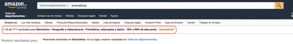 prismáticos Amazon ofertas