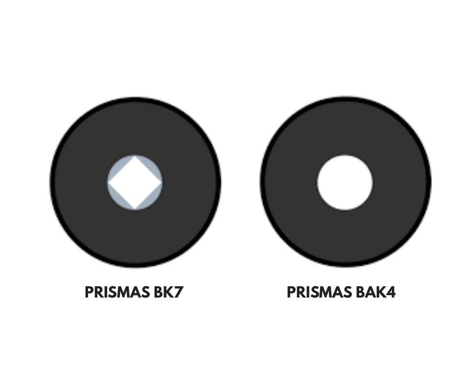 prismas para prismáticos 10x50 BAK4-BK7